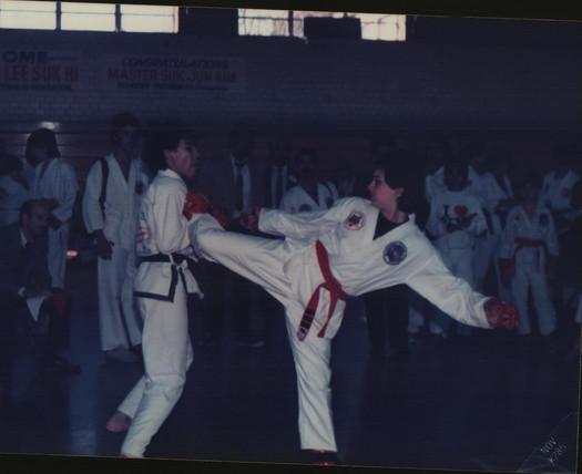 Feirce competition - yep, he won! 1984.