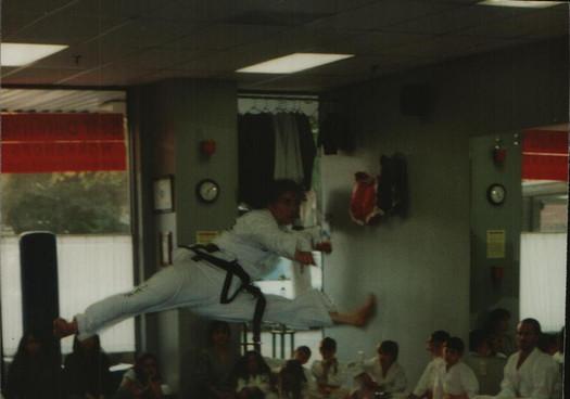 2001, 4th Dan test (5 mos pregnant - LOL)