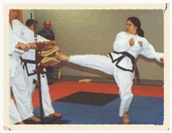Twisting Kick - Ms. G.