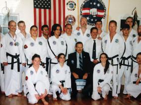 3rd Dan test, 1997, with GM Sereff