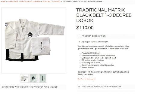 I-III Dan ITF Traditional Dobok