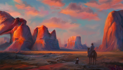 Night Among Red Rock