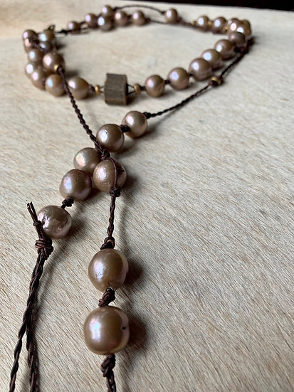 braided pearl wrap necklace