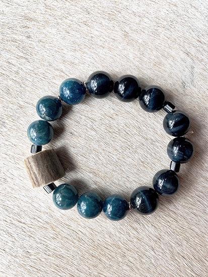 blue tigereye + apatite