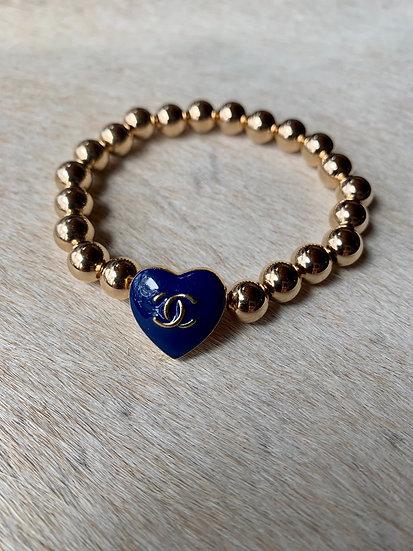 blue heart Chanel bracelet