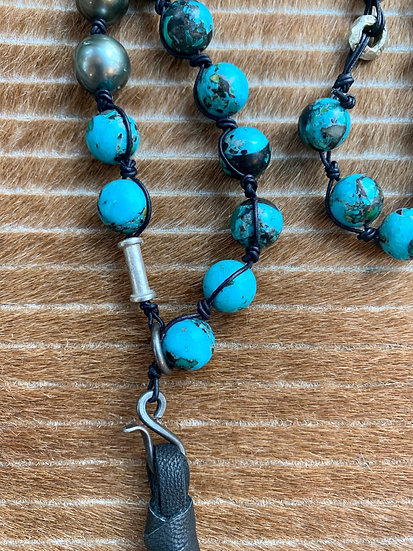 Hubei turquoise long necklace