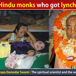 The monk who got lynched Bhaktisvarupa Damodara Swami: The spiritual scientist and the warrior