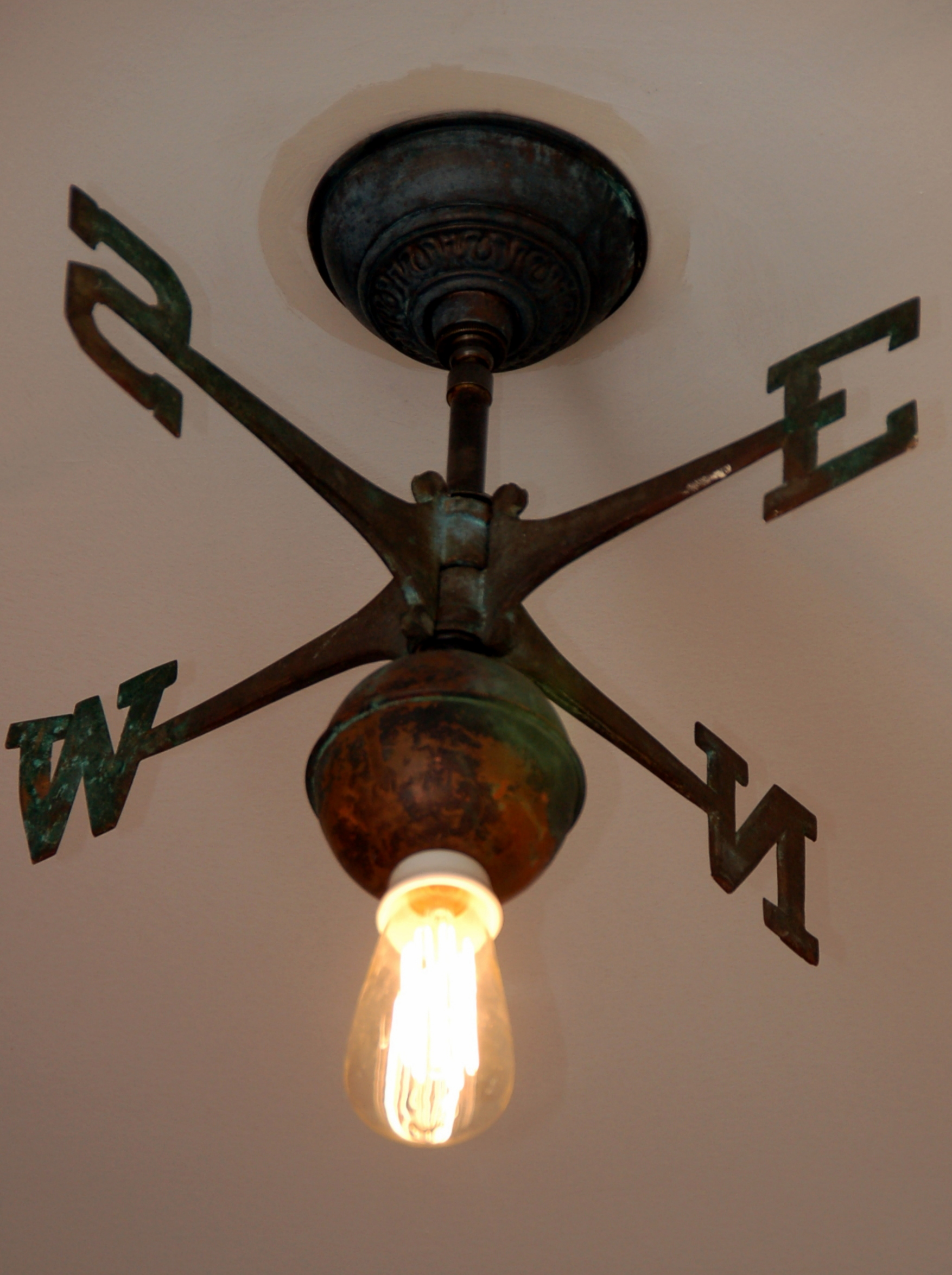 Vintage Weather Vane Light
