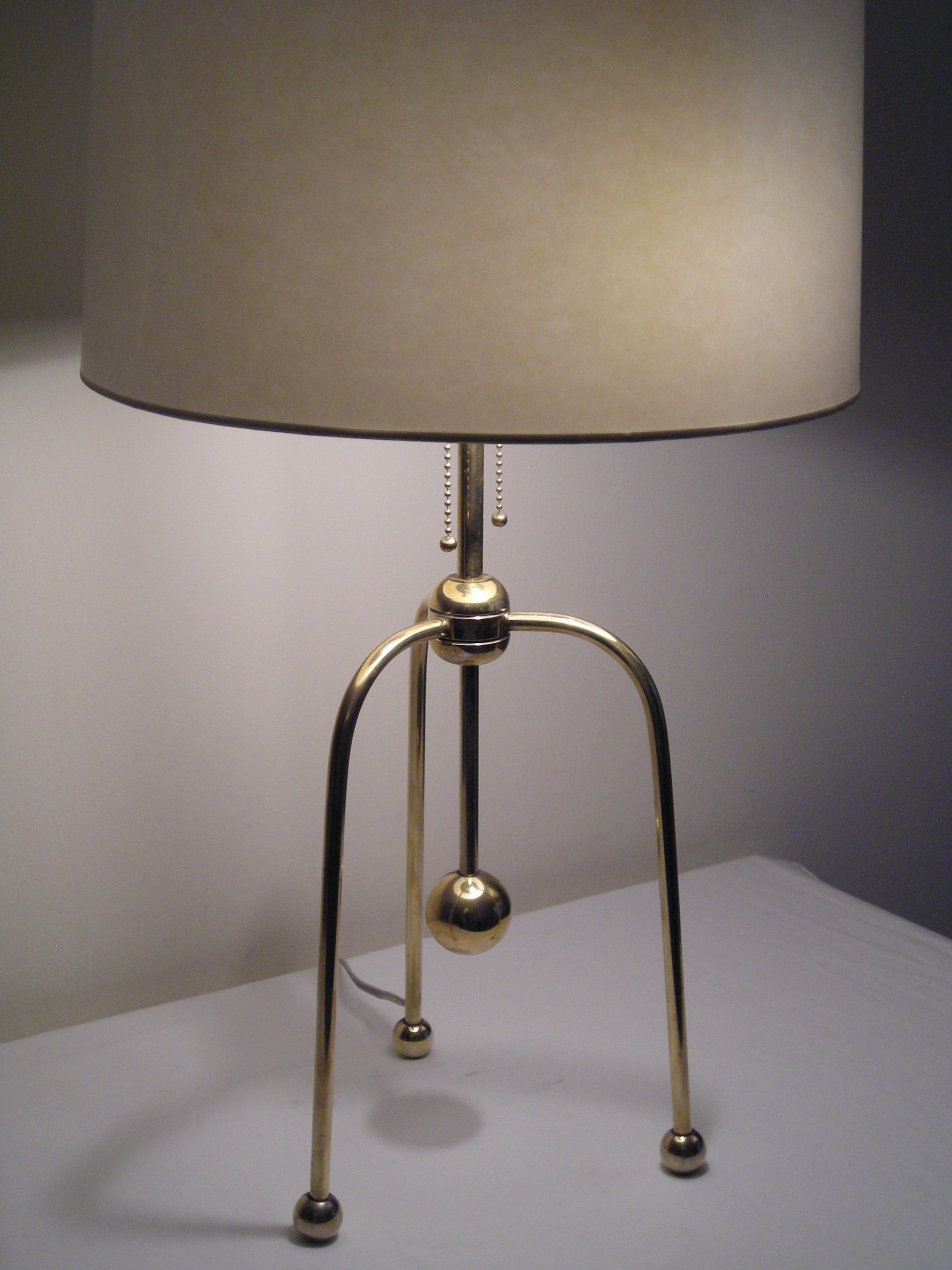 Brass Tri Legged Lamp