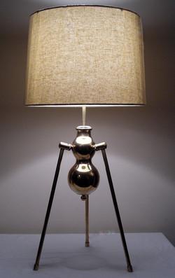 Double Helix Brass Lamp
