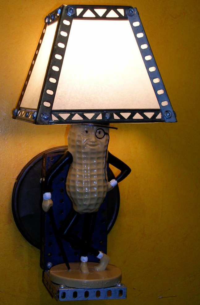 Mr. Peanut Sconce