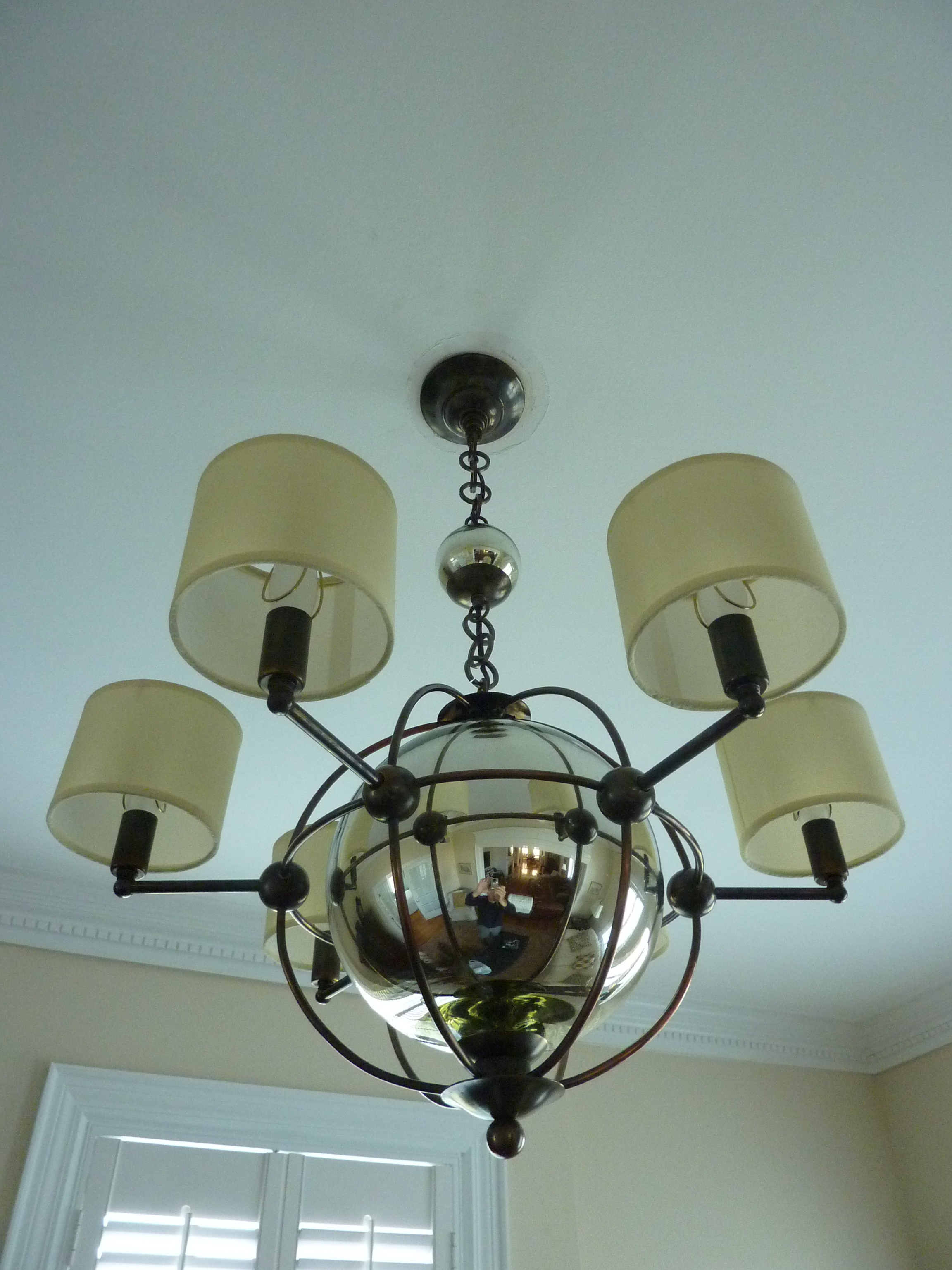 Mercury Glass Orb Parlor Light