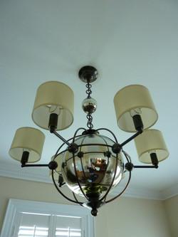 Mercury Glass Orb Parlor Light