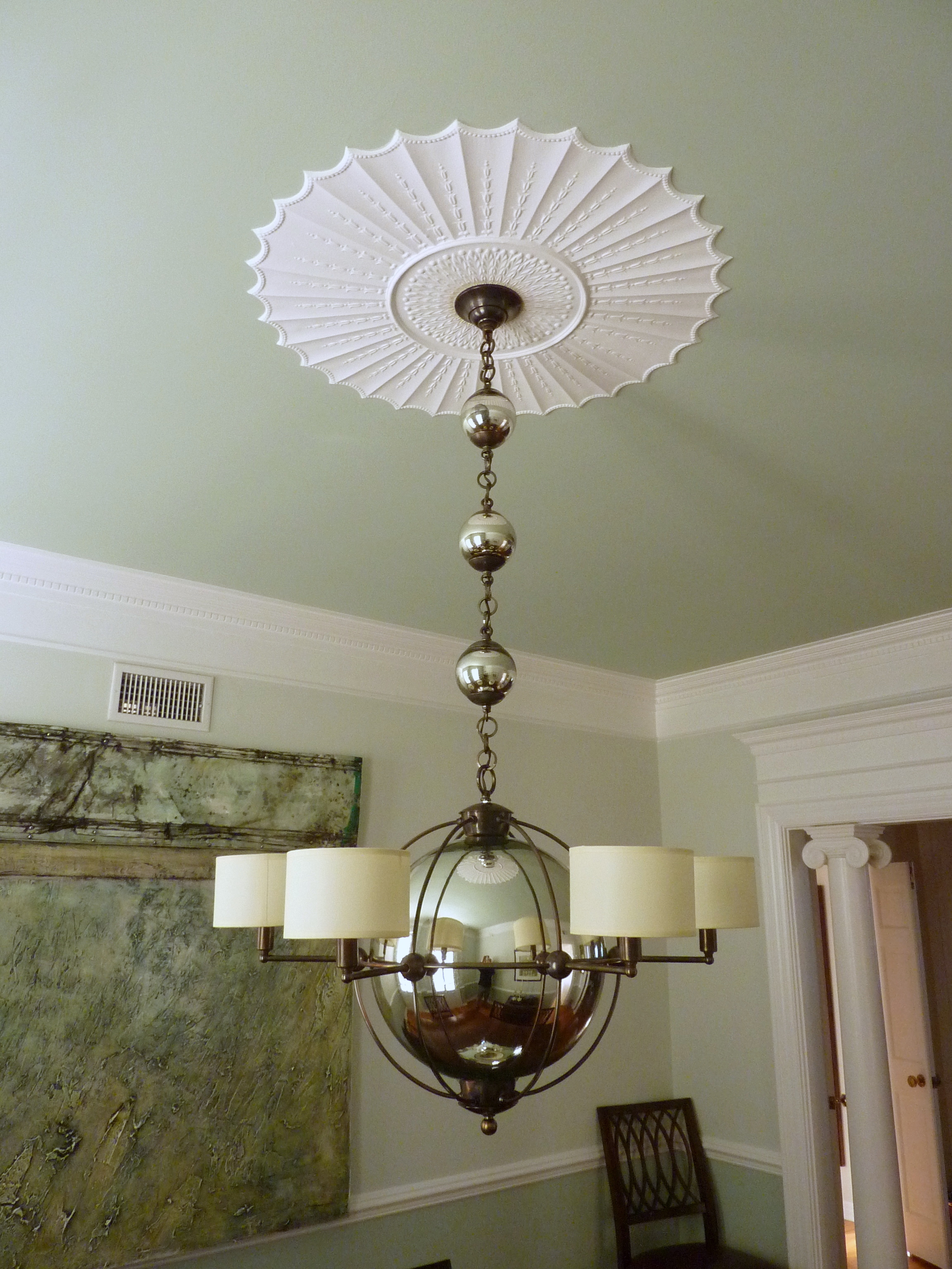 Mercury Glass Ball Chandelier