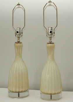 Murano Vase Table Lamps
