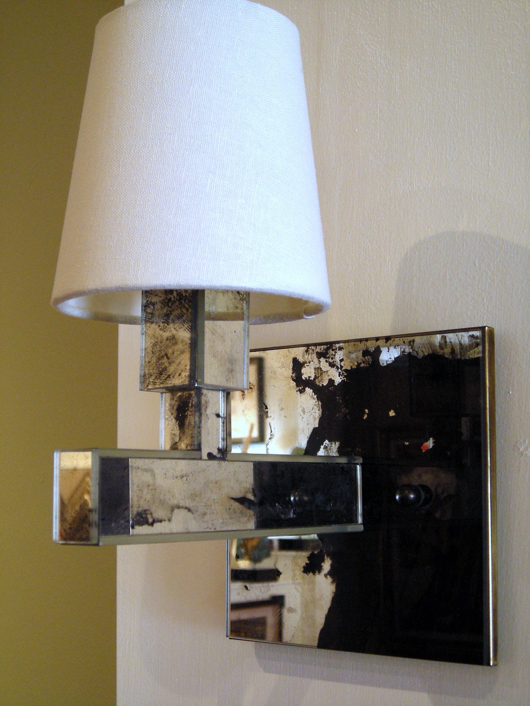 Reclaimed Mirror Sconce