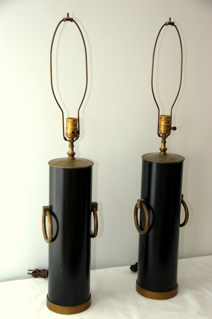 Brass Ring Table Lamps