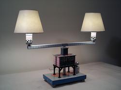 Tin Lithograph Lamp