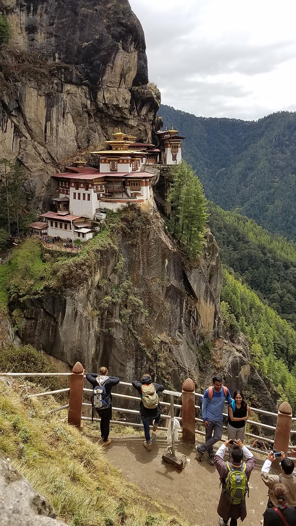 VIEW OF TIGER'S NEST MONESTRY BHUTAN