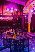 Scene at bar restaurant at night