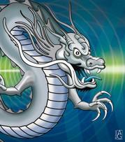 Drawing of dragon