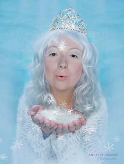 Ice queen blows snow