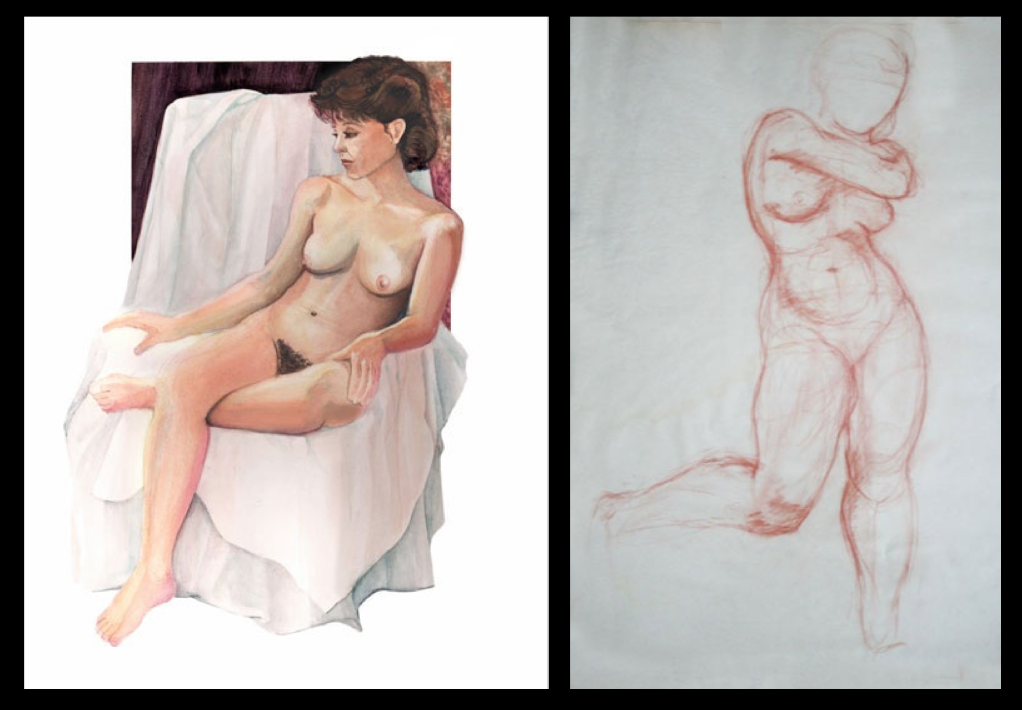 Life drawing of nudes