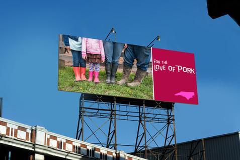 Billboard for pig farmers of North Carolina