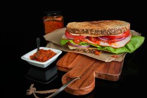 Sandwich using hot sauce