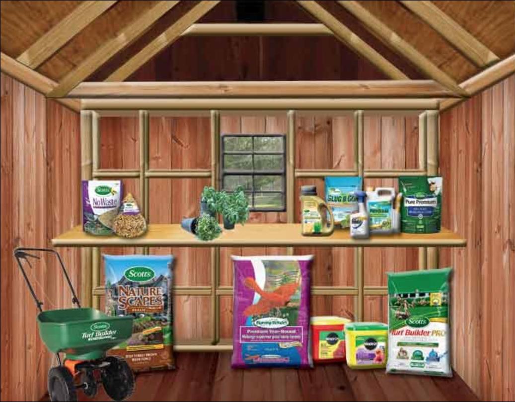Inside of shed illustration