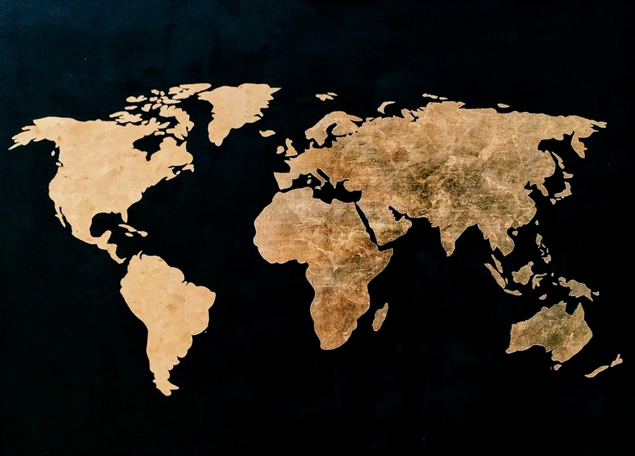 black and goldleaf map