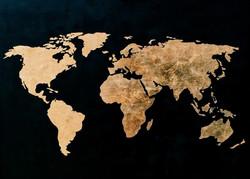Black and goldleaf map