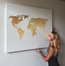 White and goldleaf map