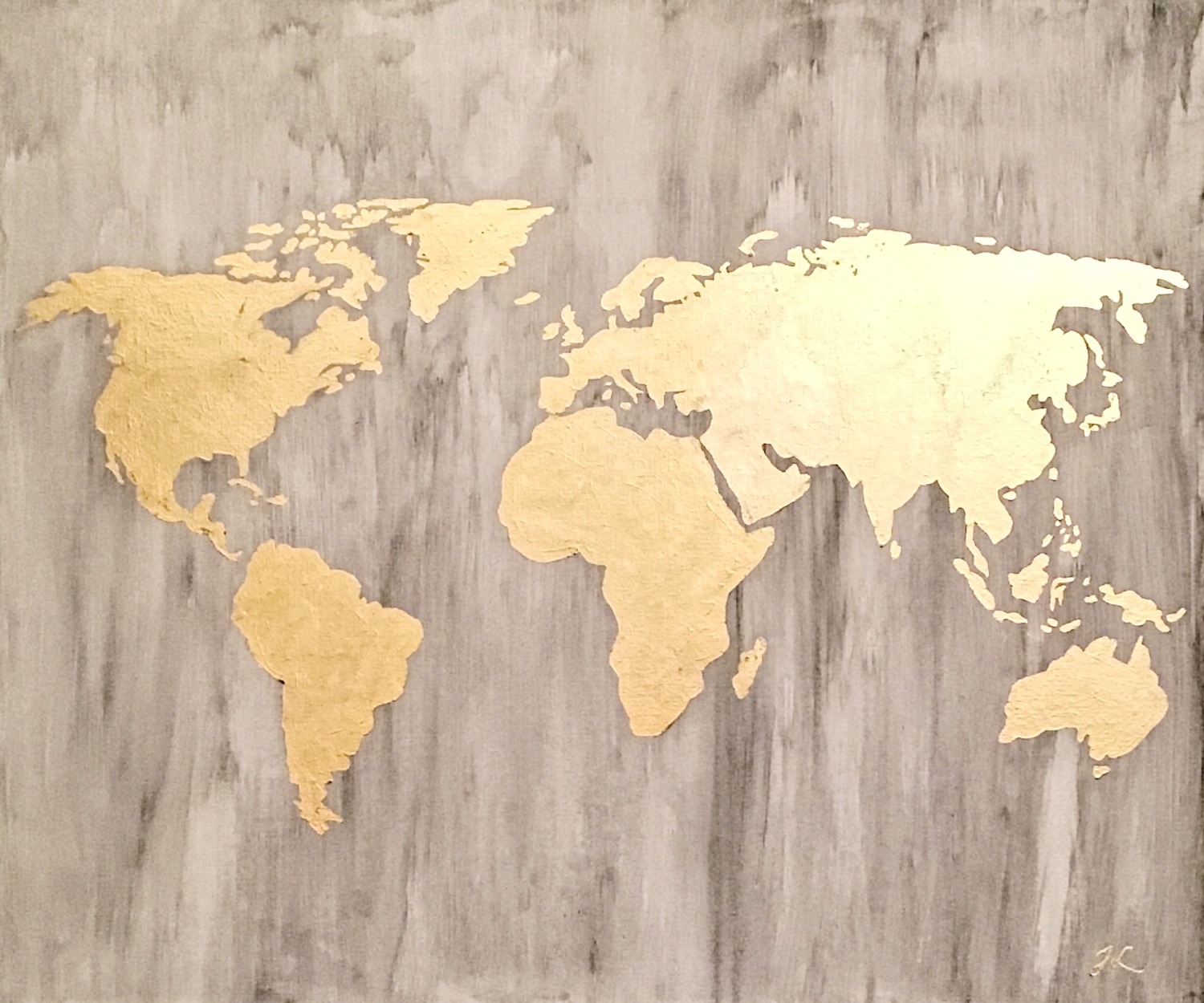 marble goldleaf map