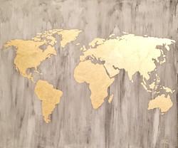 Marble goldleaf map