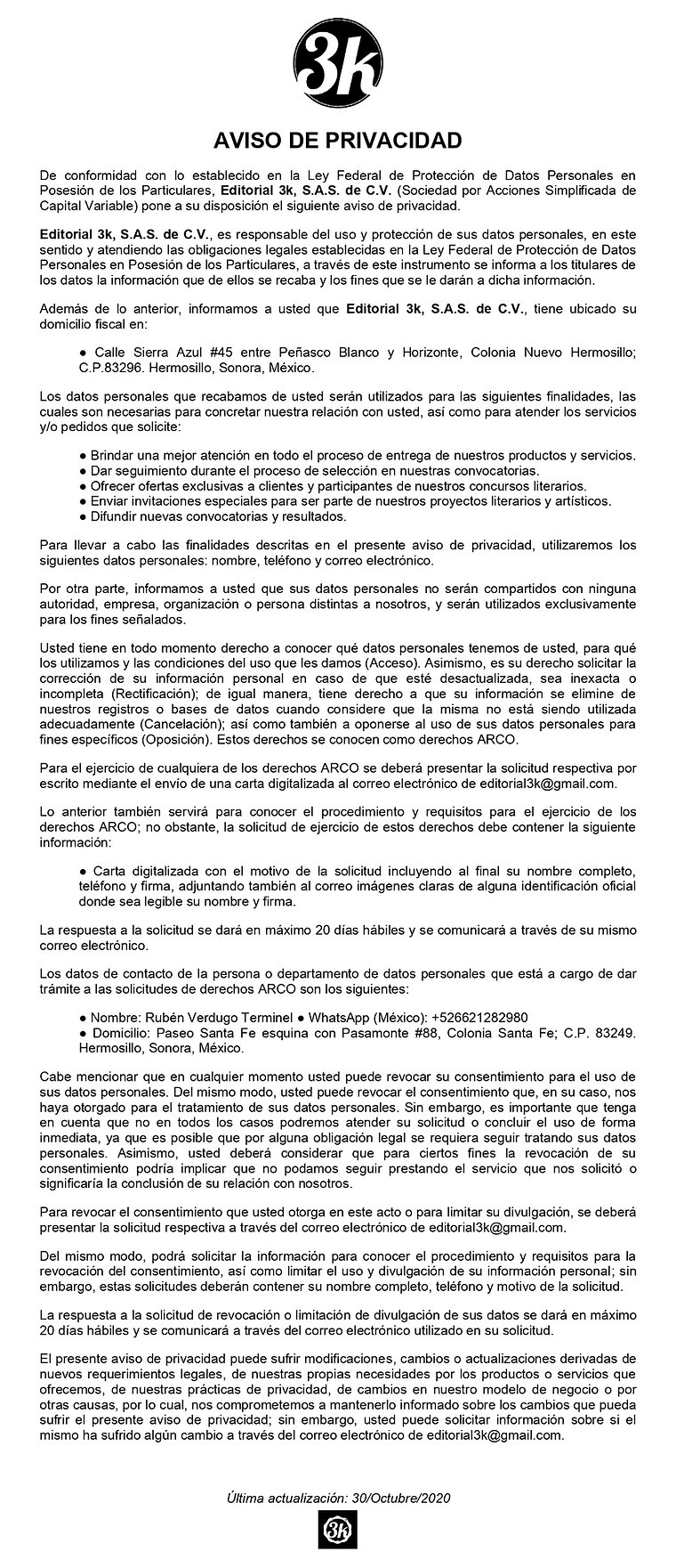 JPG Aviso de Privacidad E3k2020 (30.Octu