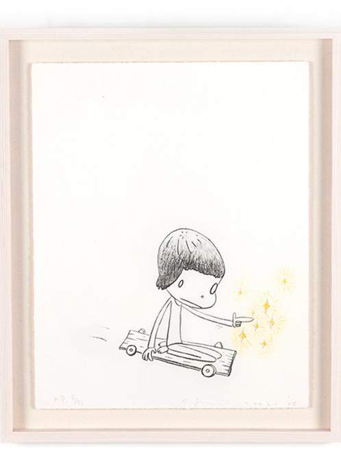 """""""Dizzy on Wheel"""" Print by Yoshitomo Nara"""