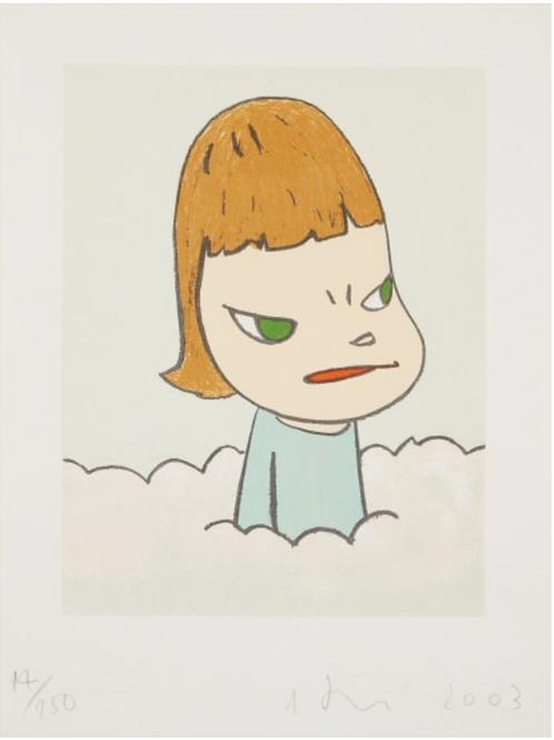 """In the Cloud"" by Yoshitomo Nara"
