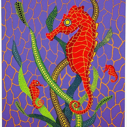 """""""Seahorses"""" by Yayoi Kusama"""