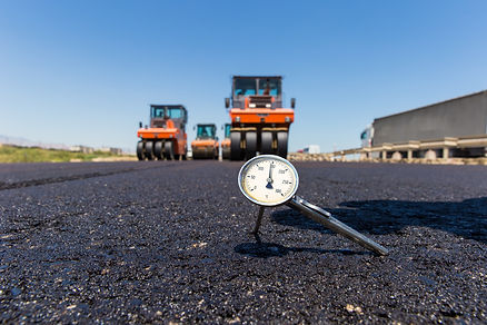 Asphalt concrete, Thermometer in hot asp