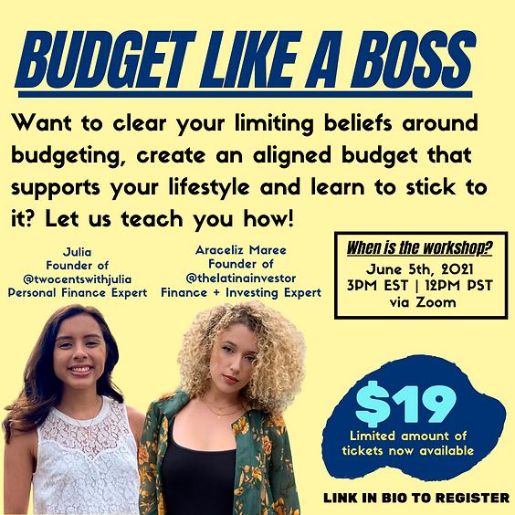 Budget Like A Boss Workshop