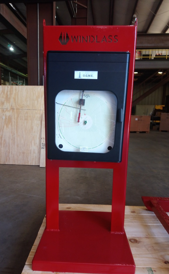Chart Recorder for 20000 psi Test Unit
