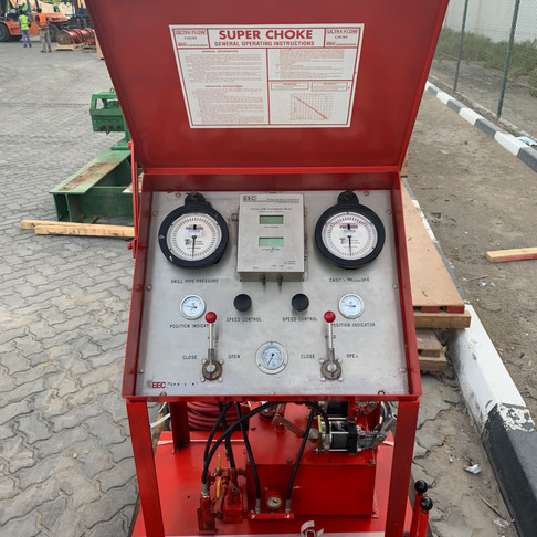 Dual Choke Control Panel