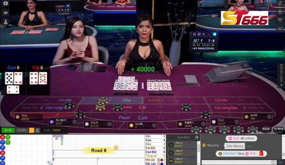 Bàn chơi baccarat online