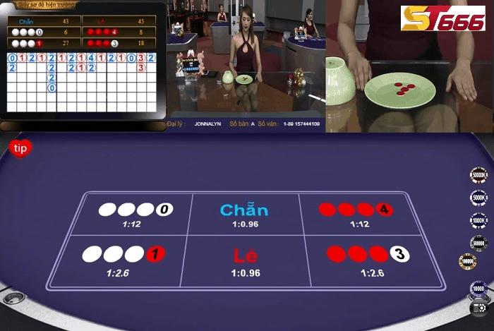 quan sát bàn chơi xoc dia online