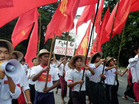 Myanmar girls and the political blockade