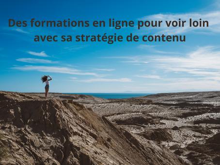 Stratégie de contenu : 5 formations (bientôt) en ligne