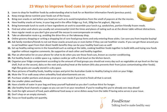 23 Ways to Improve Your Food Environment