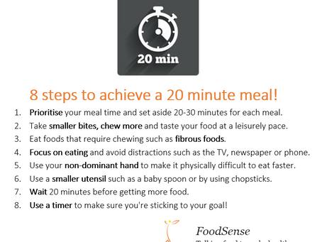 Q: How long should I eat for?