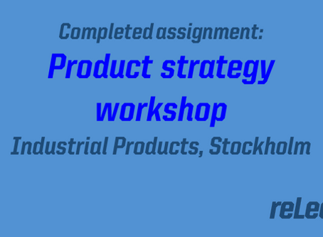 Completed assignment: Product strategy roadmap